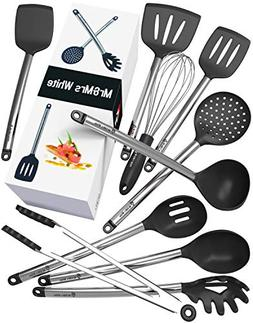 Kitchen Utensil Set - 10 Cooking Utensils - Nonstick Silicon
