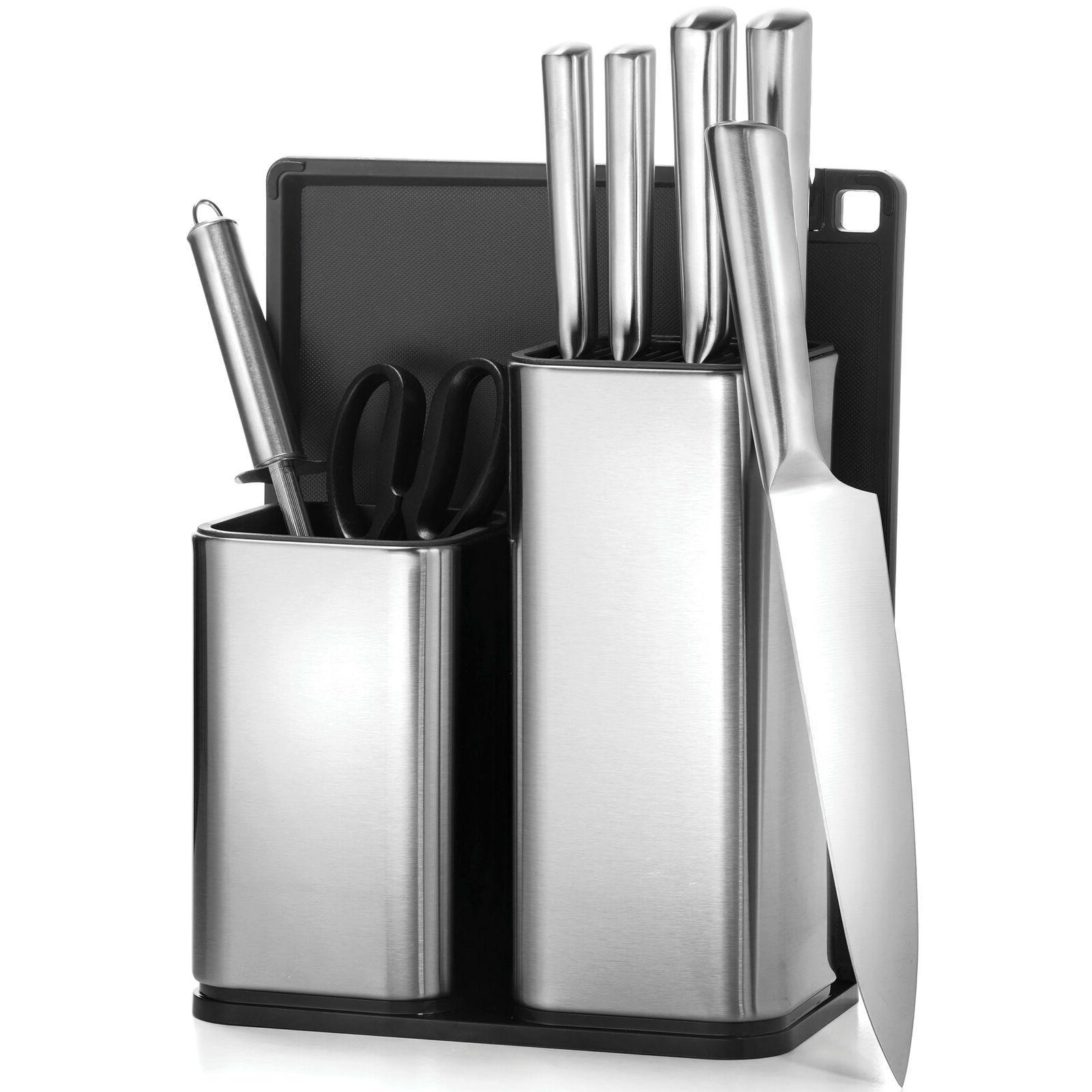 10 piece kitchen knife and utensil holder