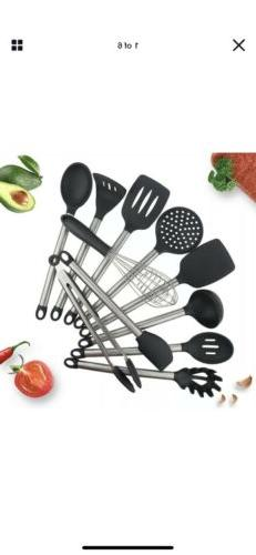 11pcs Kitchen Utensil set - Non-Stick Cooking Utensils Set S