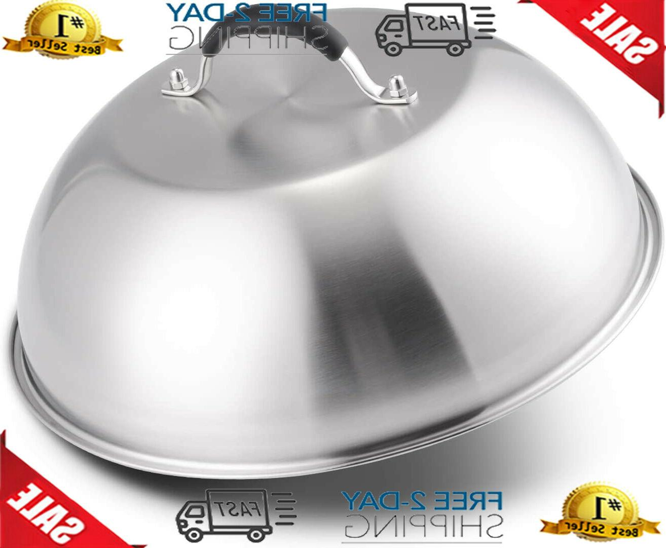 12 inch round basting cover stainless steel