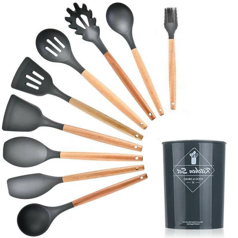 12 pcs kitchen silicone cooking utensils set