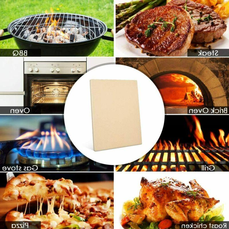 """Heavy Duty Pizza Stone Grilling Stone for 15""""x12"""""""