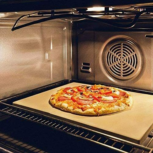 """Heavy Pizza Stone for Oven Grill BBQ 15""""x12"""""""