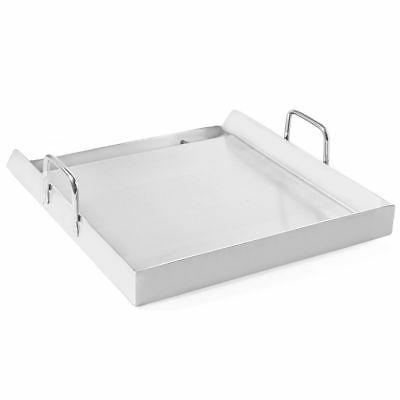 """17"""" x Stainless Steel Flat BBQ Cooking Griddle double Stove"""
