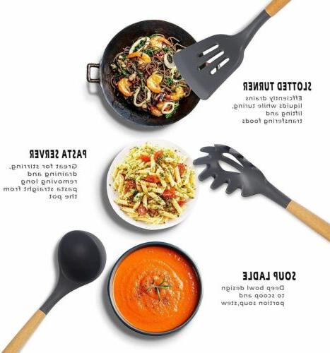 22pcs Kitchen Utensils Non-Stick Cooking Spatula