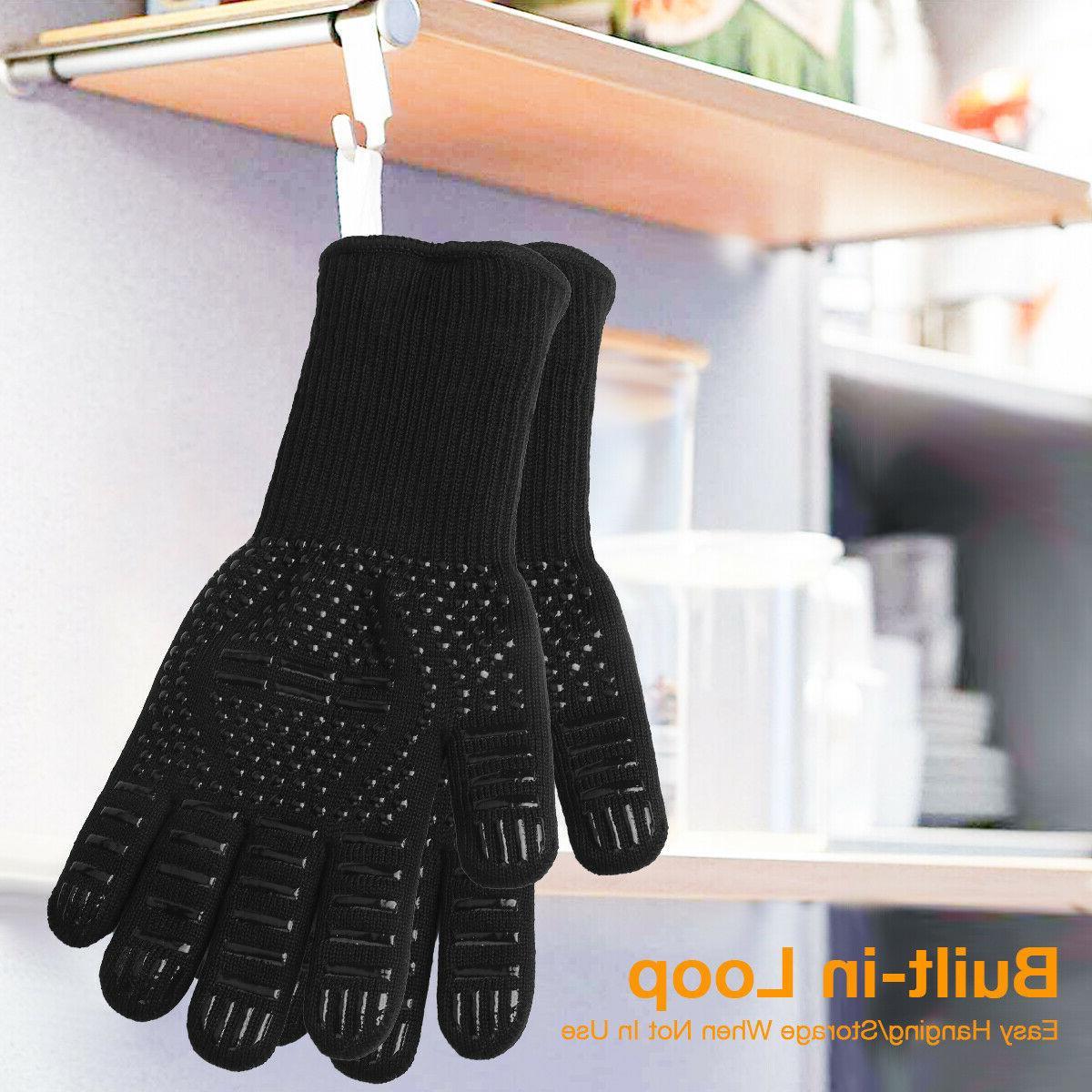 2PCS Heat Resistant Gloves BBQ US