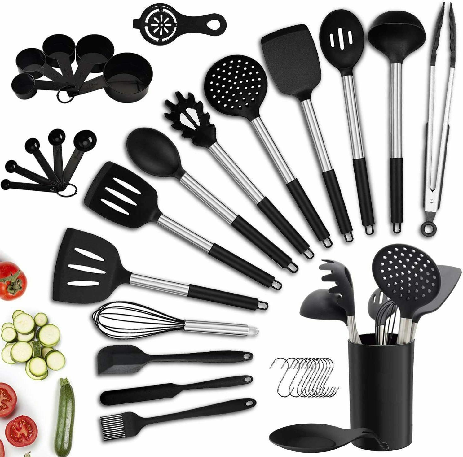 36pcs kitchen utensil set silicone cooking utensils
