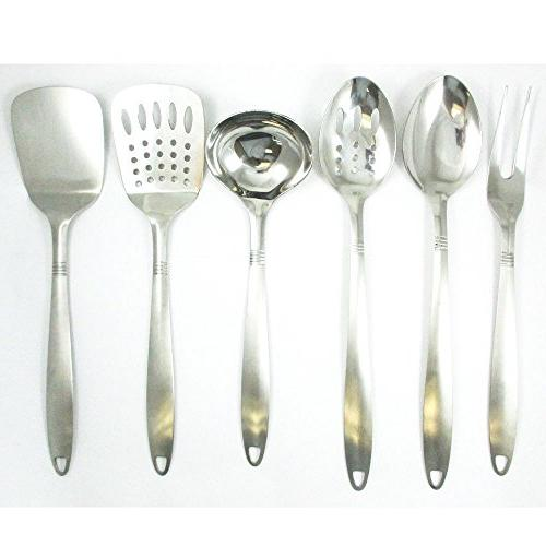 6 Stainless Steel Cooking Tools Spatula Spoon