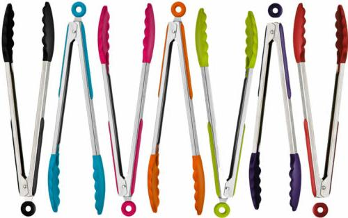 7 Color Cooking Serving Tongs Stainless Steel