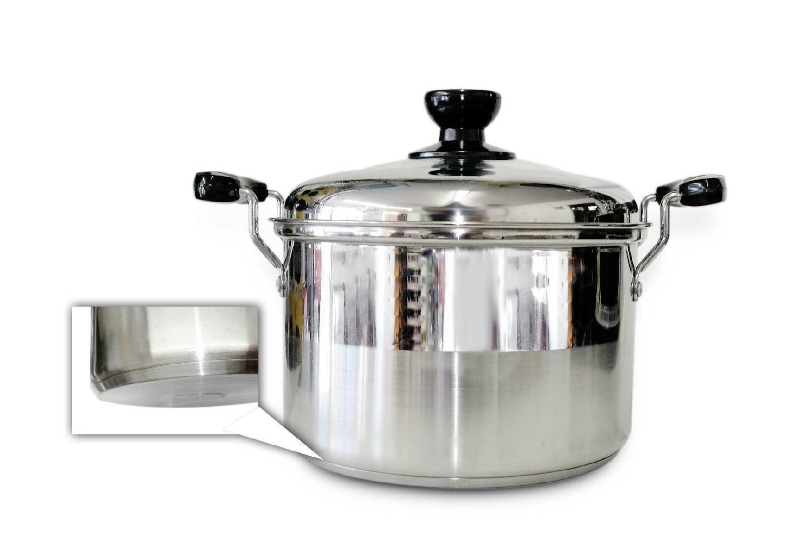 7 qt 24cm stainless steel cooking pot