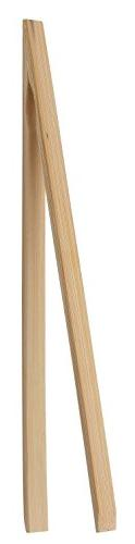 HIC Harold Import Co. 4042 Natural Bamboo Toast Tongs, 12""