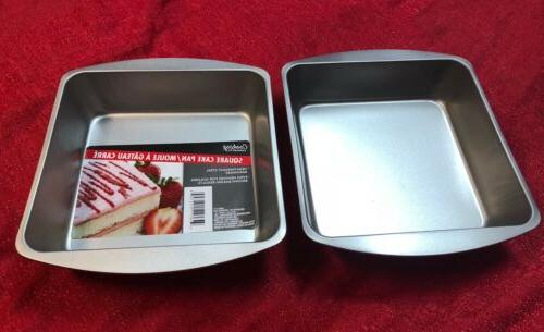 """Lot Of 2 Cooking Concepts SQUARE Non Stick Cake Pan 8"""" Inch"""
