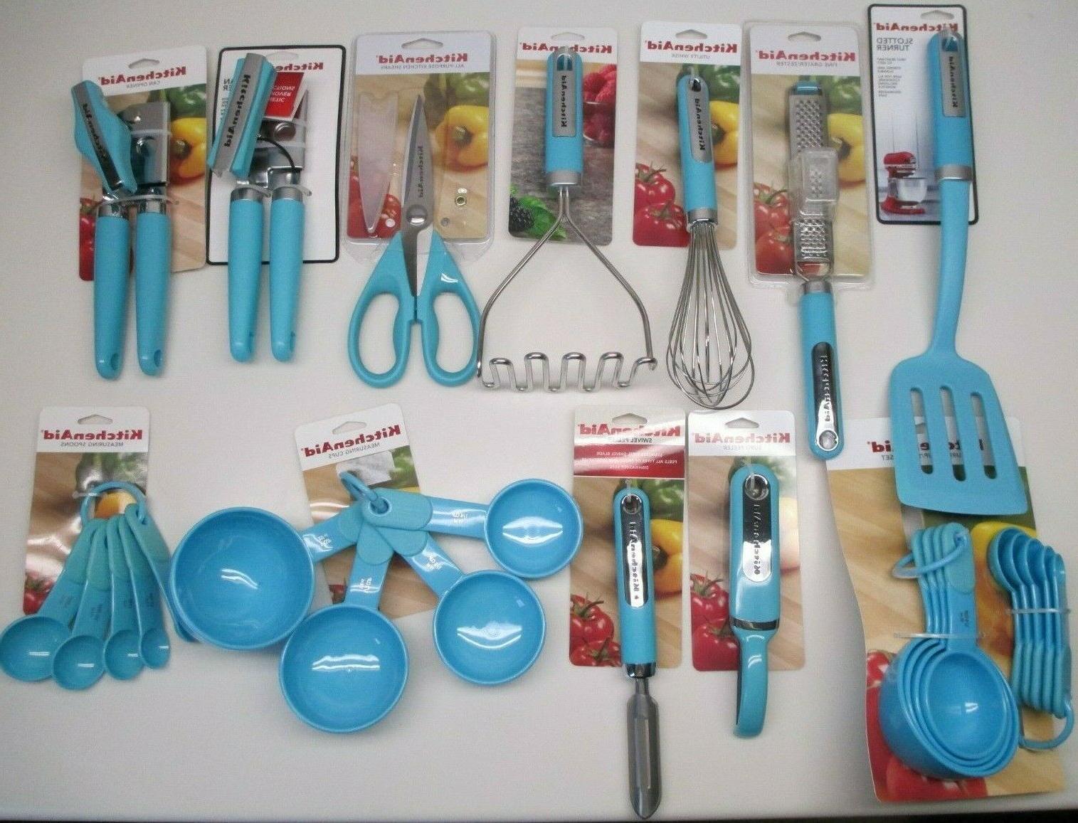aqua turquoise blue htqa kitchen utensils