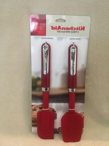 baking spoon and scraper spatula set red