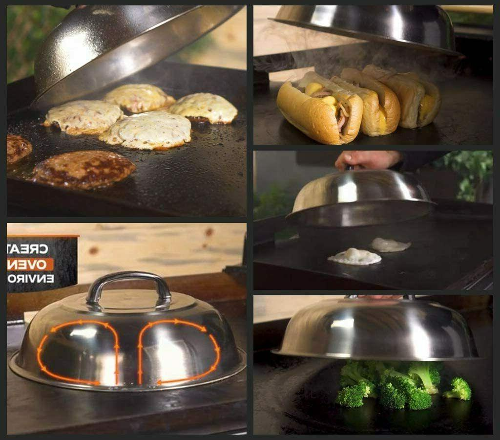 Basting Grill Cooking Steamer Lid