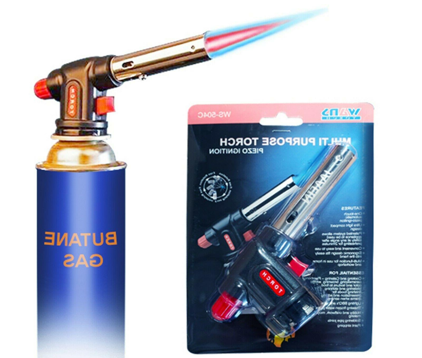 butane torch culinary cooking blow food torch