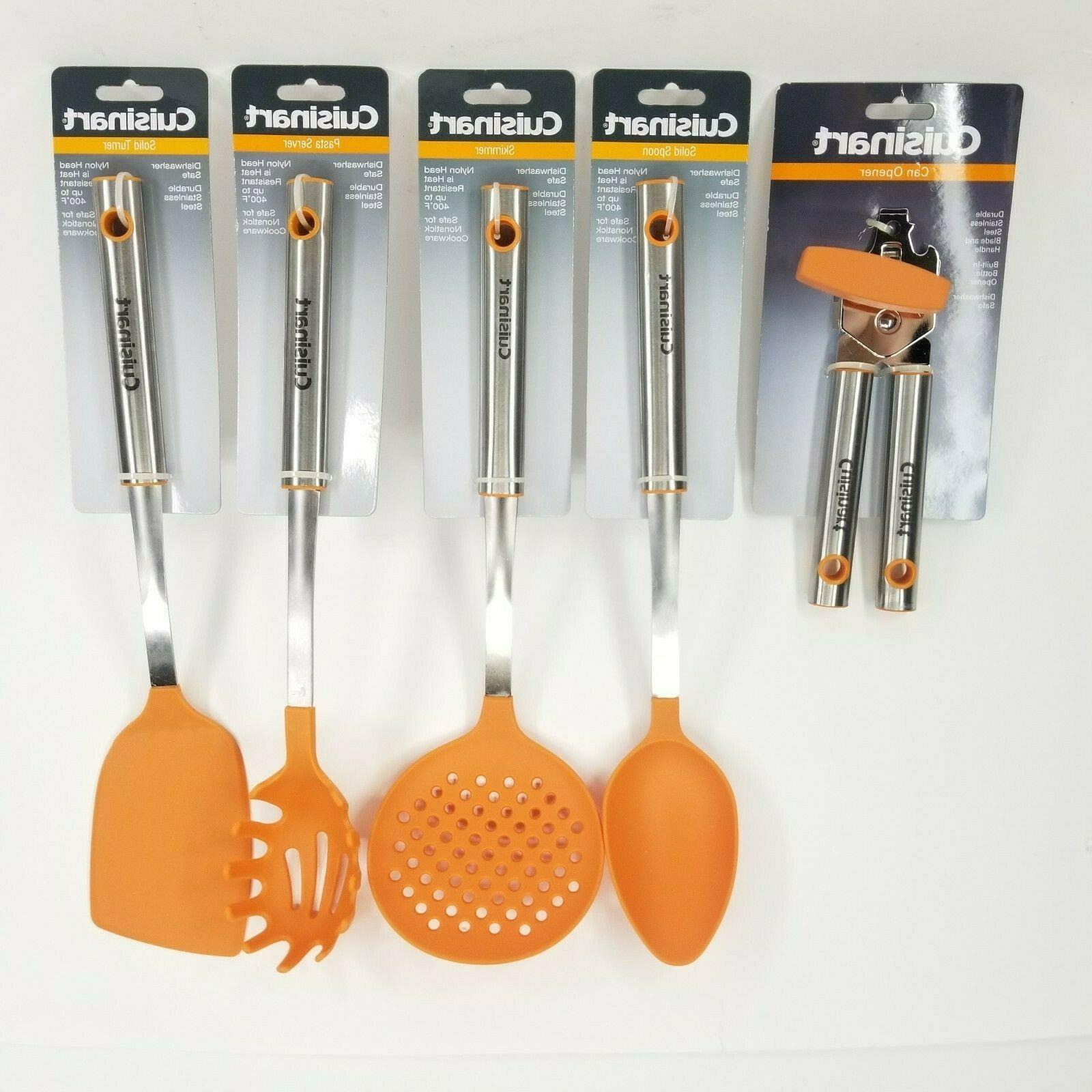 cooking utensils orange kitchen nylon pasta spoon