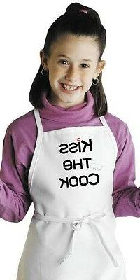 Cute Kids Apron Kiss The Cook Children's Kitchen Aprons by C