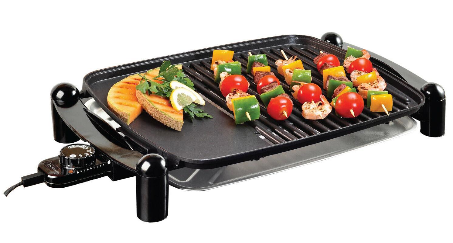 electric indoor outdoor grill portable smokeless non