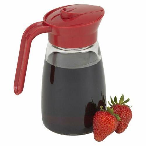 glass syrup dispenser