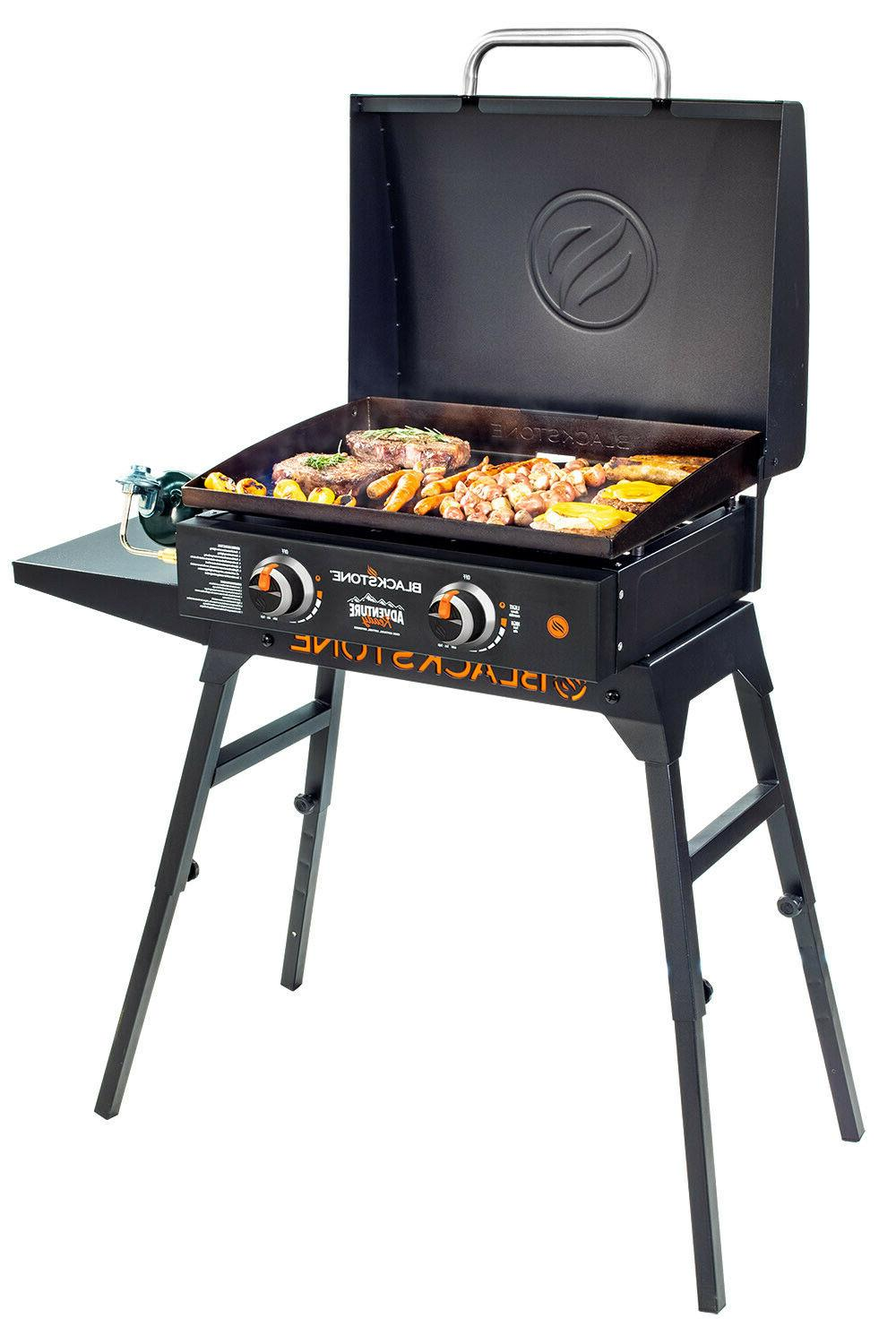 griddle bundle with stand and hood portable