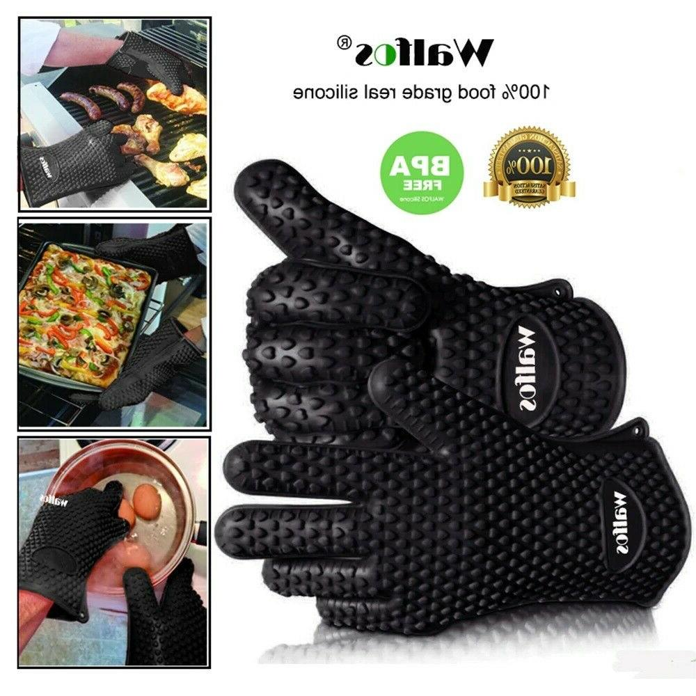 Walfos Resistant Silicone Glove Cooking Mits Baking