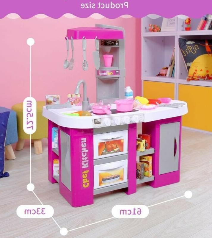 kids pretend kitchen play set toy food