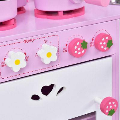Kids Strawberry Cooking Kitchen Toddler New