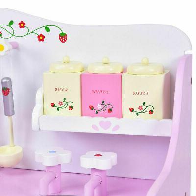 Kids Strawberry Pretend Cooking Kitchen Toddler