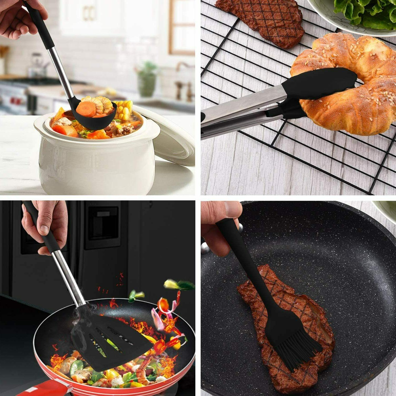 36PCS Set,Silicone Cooking with