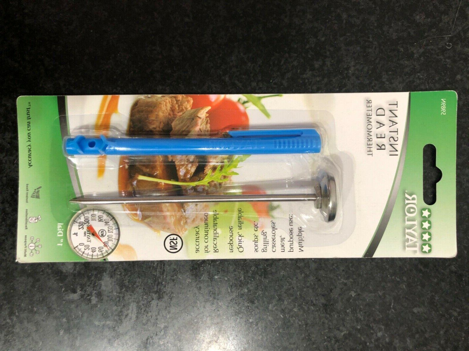 meat thermometer plastic lens stainless steel instant
