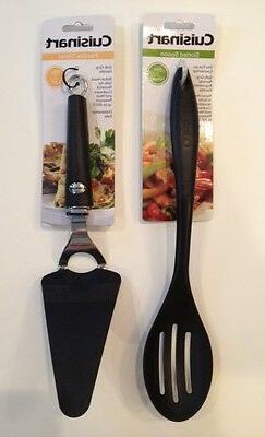 """New Cuisinart 14""""Slotted Spoon 12""""FlexibleTurner Set Nylon H"""