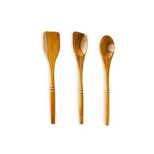 new 3pc teak kitchen tool set free