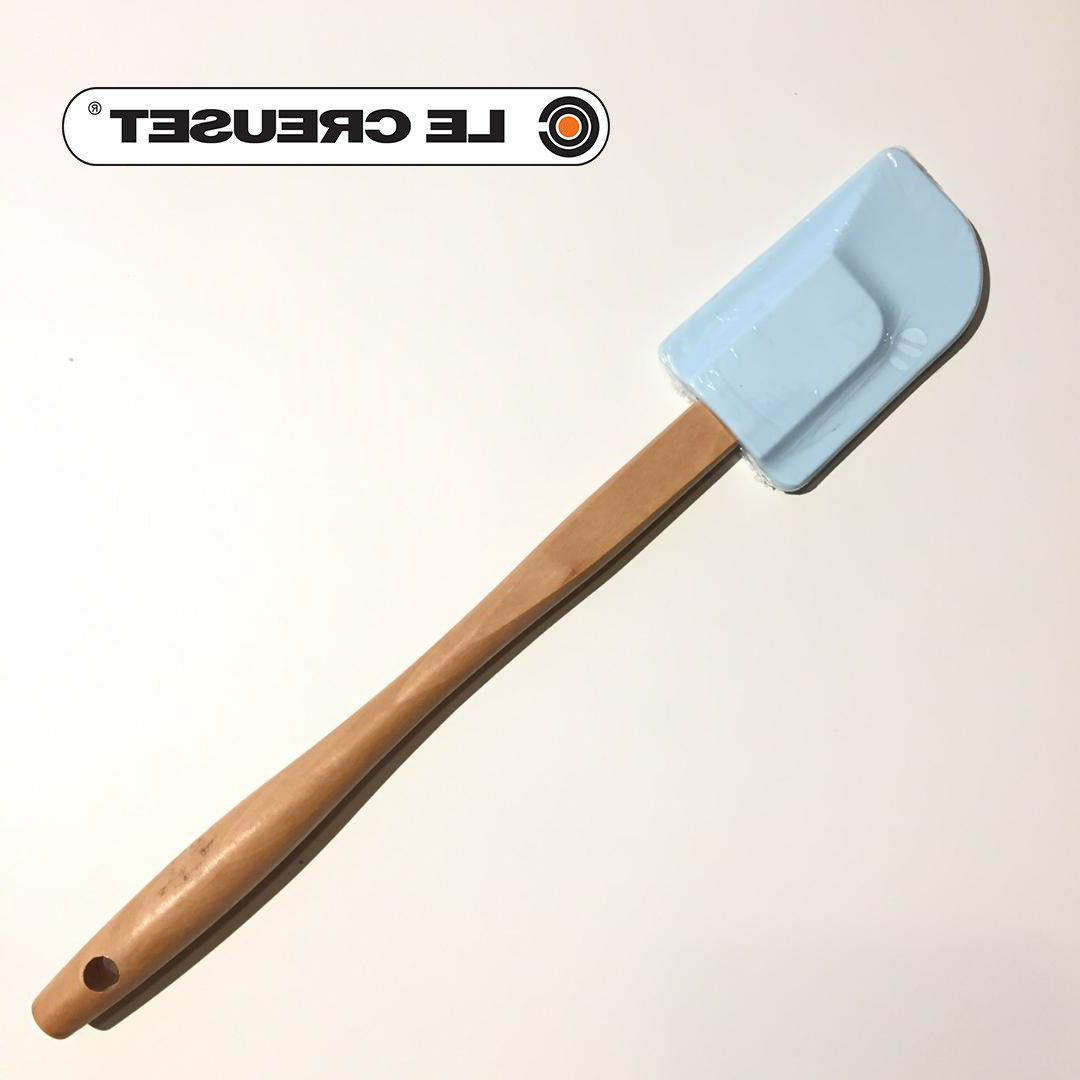 new silicone medium bijou powder blue spatula