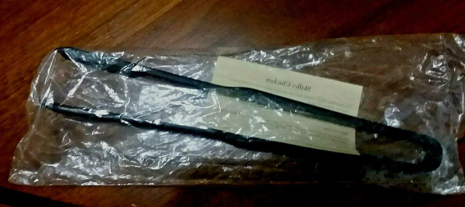 PAMPERED CHEF NYLON SERRATED TONGS COOKING KITCHEN BLACK