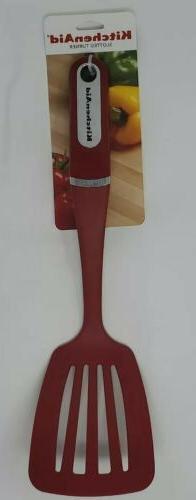 KitchenAid Nylon Slotted Turner, Red
