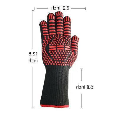 Pair Glove Heat Gloves Silicone