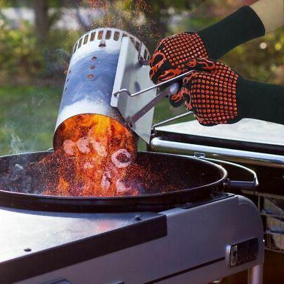 Pair BBQ Glove Silicone Kitchen Baking