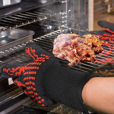 Pair Glove Heat Gloves Silicone Kitchen