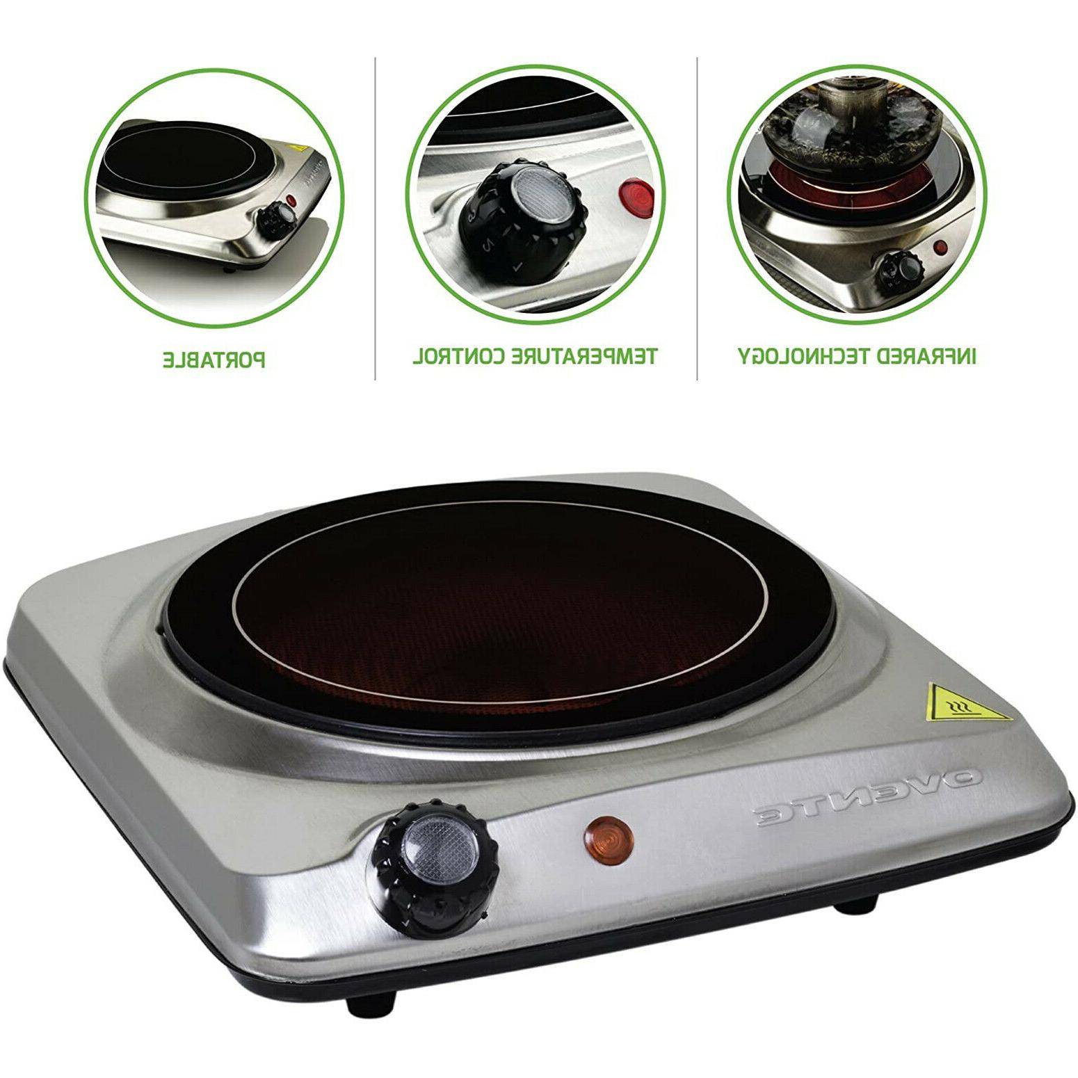 portable electric cooktop burner infrared 1000w single