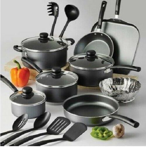 set of pots and pans large cooking