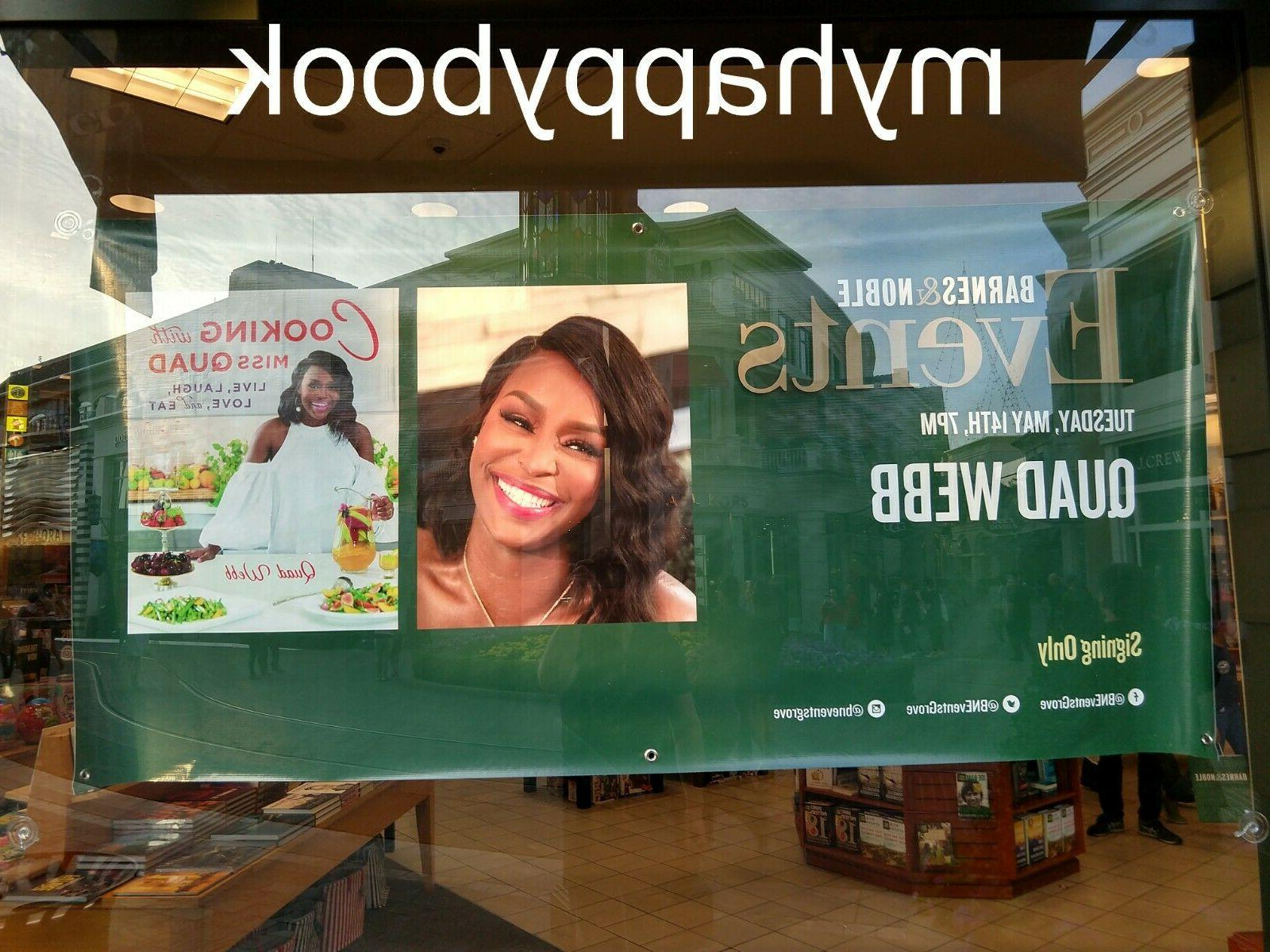 signed cooking with miss quad by quad