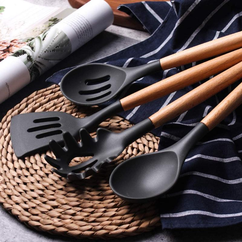 Silicone Cooking Utensil Set Cookware 26 Pcs