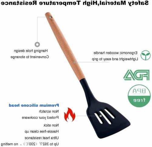 22pcs Kitchen Non-Stick Silicone Tools Spatula Spoon Kits
