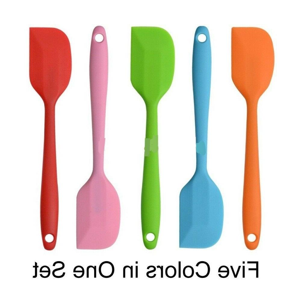 small silicone spatula stainless steel core heat
