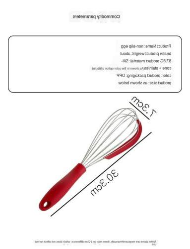 Stainless steel 2 1 Manual Beater Silicone Spatula Kitchen