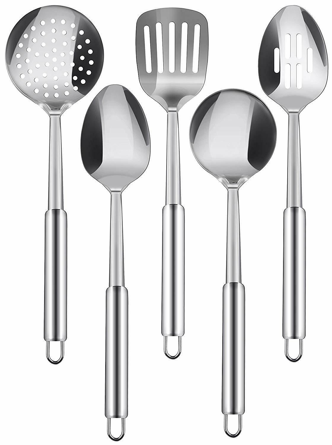 stainless steel cooking utensils set 5 piece