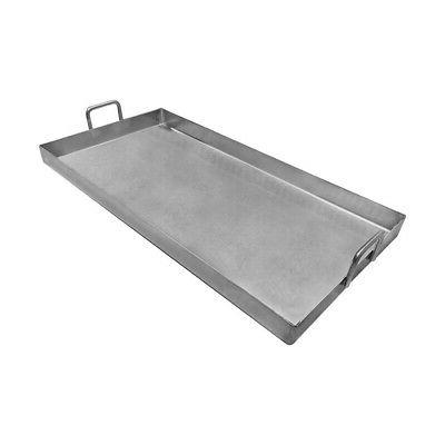 stainless steel double griddle plancha cooking pan