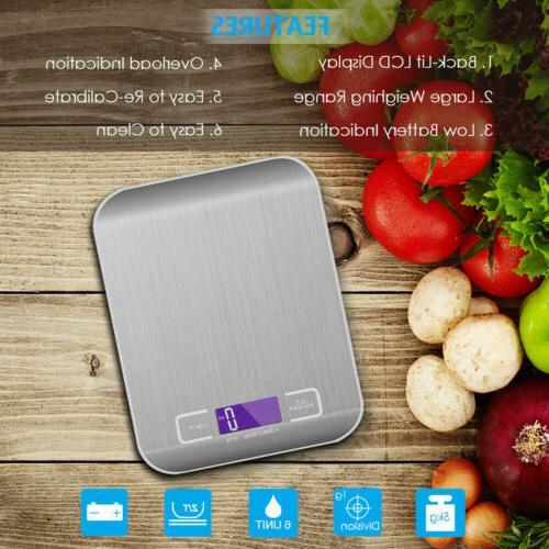 Digital 5Kg LCD Electronic Steel Cooking