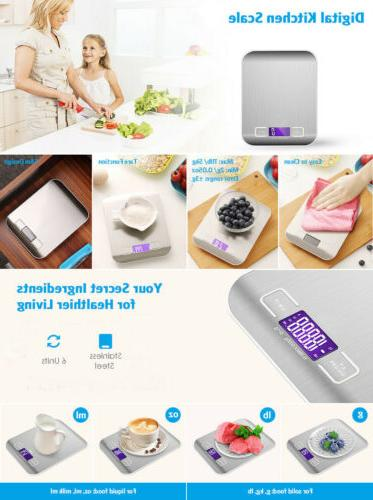 Digital 5Kg LCD Electronic Stainless Steel Cooking Food